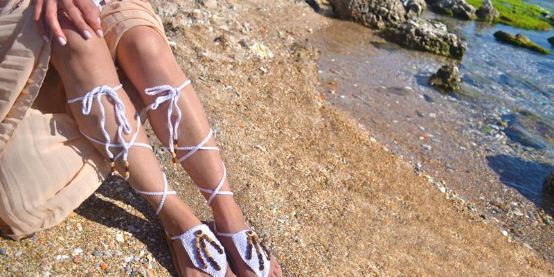 Bağcıklı sandalet modeli