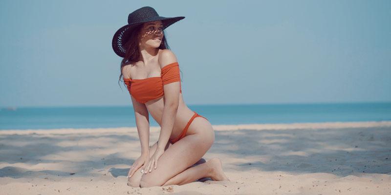 kol detaylı bikini