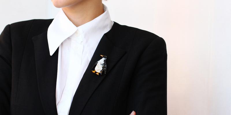 Ceket broş kombini