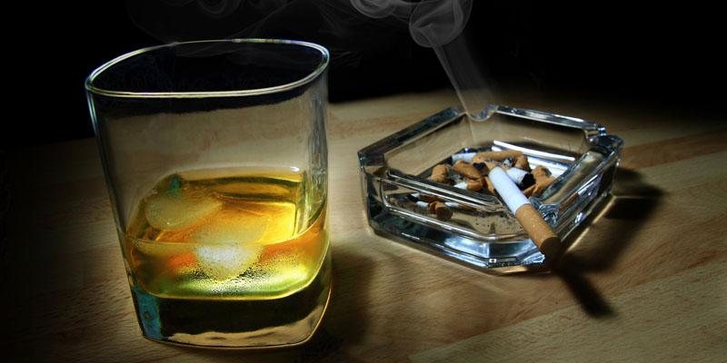 sigara alkol