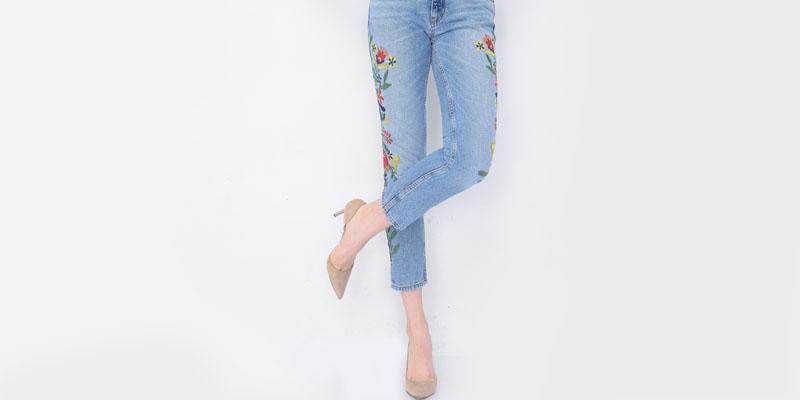 Nakışlı pantolon kombini