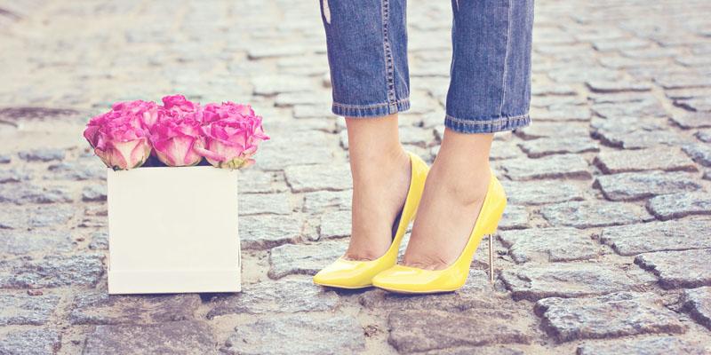 Topuklu ayakkabı jean kombini