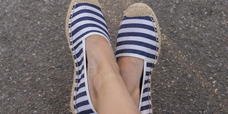 düz taban espadril ayakkabı