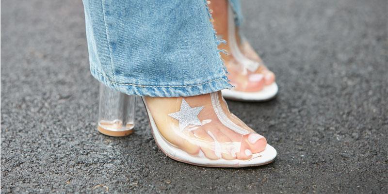 şeffaf ayakkabı modeli