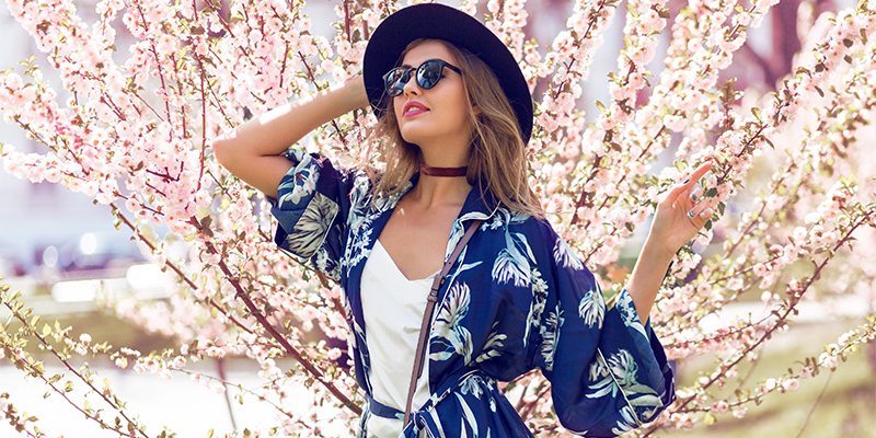 Lacivert kimono