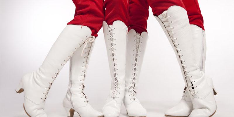 beyaz çizme