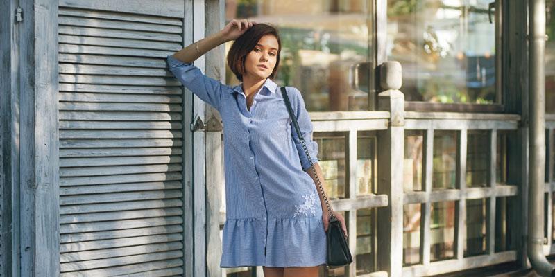 mavi elbise
