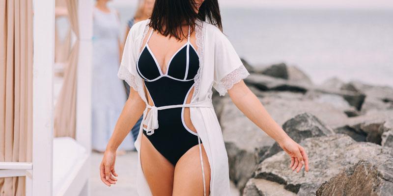 kesik detaylı bikini