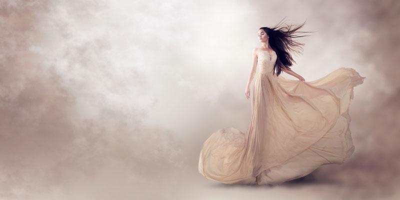 İpek kumaş elbise