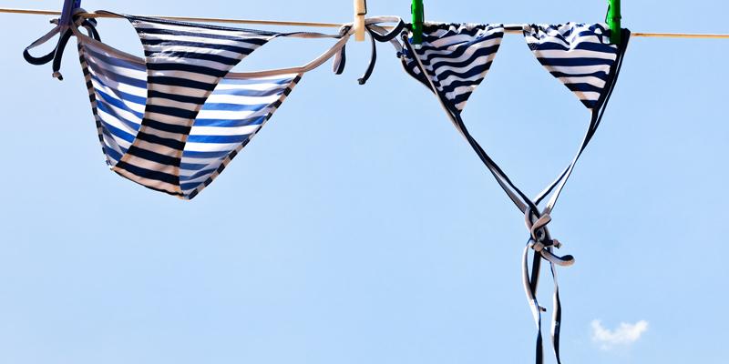 Bikini yıkama kurutma işlemi