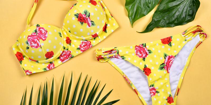 Sarı bikini takımı