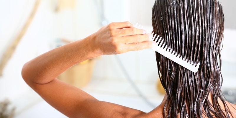 saç kremi uygulama işlemi
