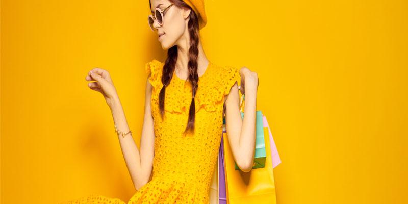 sarı elbise