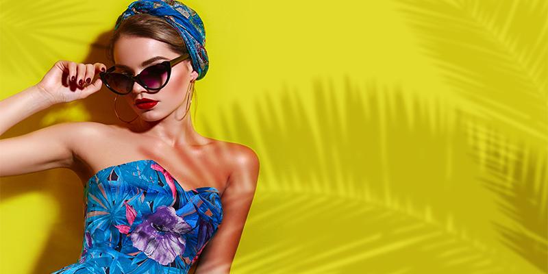 Tropikal elbise