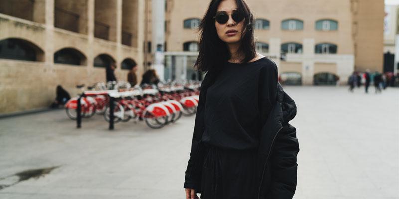 siyah vamp kıyafet