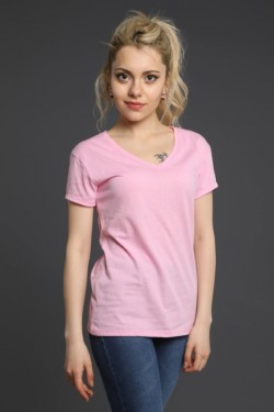 Pudra V Yaka T-Shirt